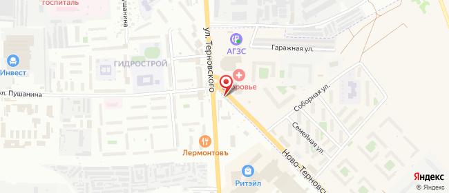 Карта расположения пункта доставки Пенза Терновского в городе Пенза