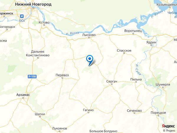 село Песочное на карте