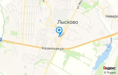Местоположение на карте пункта техосмотра по адресу Нижегородская обл, г Лысково, ул Мичурина, д 56А