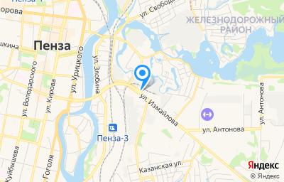 Местоположение на карте пункта техосмотра по адресу г Пенза, ул Измайлова, д 24, кв 26
