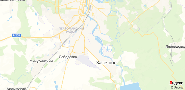 Засечное на карте