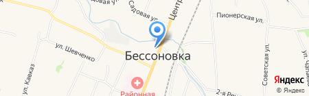 Храм-часовня Георгия Победоносца на карте Бессоновки