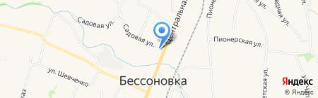 Отделение почтовой связи на карте Бессоновки