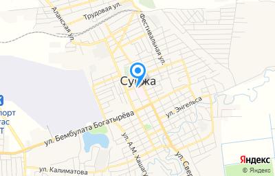 Местоположение на карте пункта техосмотра по адресу Респ Ингушетия, г Сунжа, ул А.Накостоева, д 46