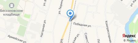 Магазин автотоваров на карте Бессоновки