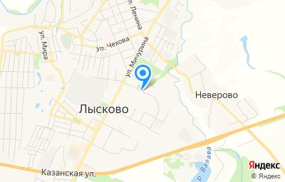 Местоположение на карте пункта техосмотра по адресу Нижегородская обл, г Лысково, ул Чернышевского, д 1