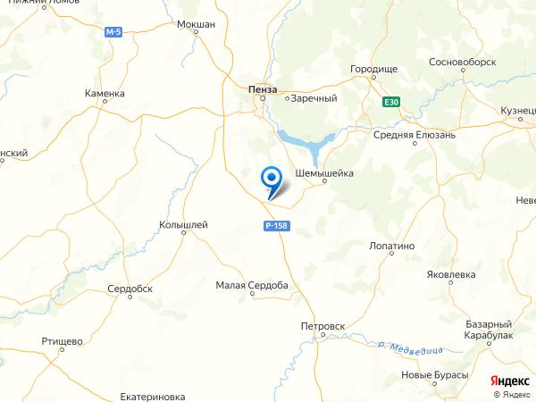село Кондоль на карте