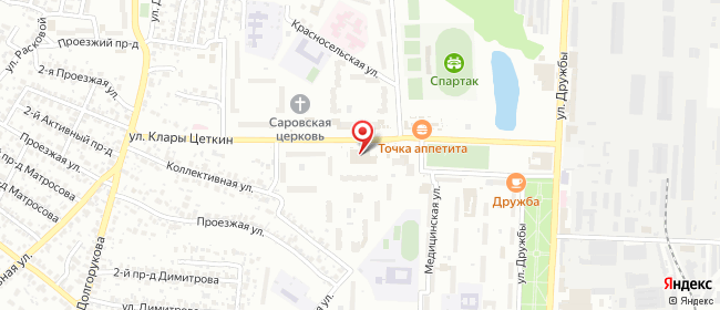 Карта расположения пункта доставки Пенза Клары Цеткин в городе Пенза
