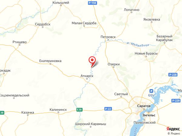 село Лисичкино на карте