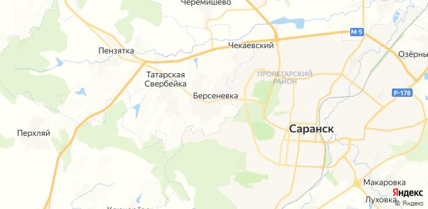 Берсеневка на карте