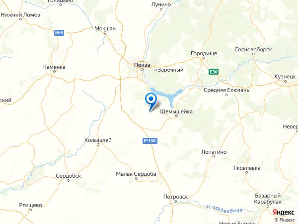 деревня Бутырки на карте
