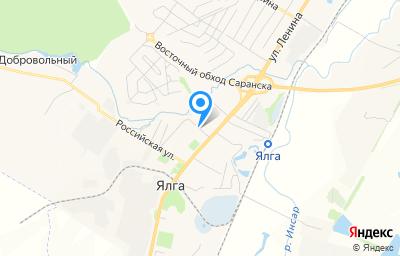 Местоположение на карте пункта техосмотра по адресу г Саранск, рп Ялга, ул Российская, д 7