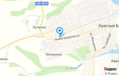 Местоположение на карте пункта техосмотра по адресу Нижегородская обл, рп Красные Баки, ул Нижегородская, зд 96А