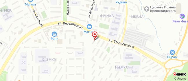 Карта расположения пункта доставки Саранск Веселовского в городе Саранск