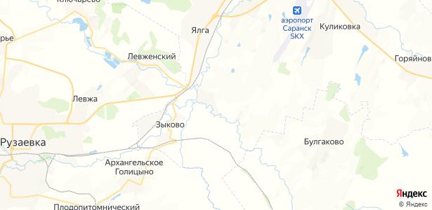 Монастырское на карте