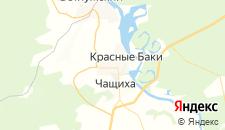 Отели города Красные Баки на карте