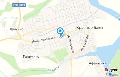 Местоположение на карте пункта техосмотра по адресу Нижегородская обл, рп Красные Баки, ул Нижегородская, д 92