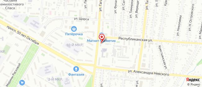 Карта расположения пункта доставки Westfalika в городе Саранск