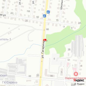 г. Саранск, ул. Гагарина, на карта