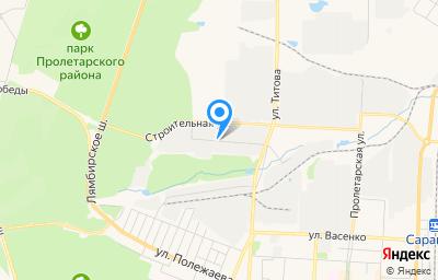 Местоположение на карте пункта техосмотра по адресу г Саранск, ул Строительная, д 22А/1