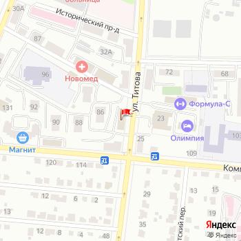 г. Саранск, ул. Титова,34 на карта