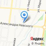 Треугольник на карте Саранска