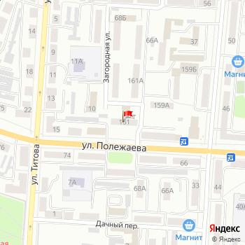 г. Саранск, ул. Полежаева,161 на карта