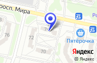 Схема проезда до компании ПК ФАВОРИТ в Заречном