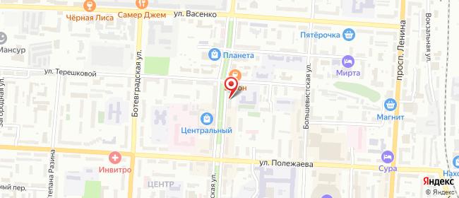 Карта расположения пункта доставки СИТИЛИНК в городе Саранск