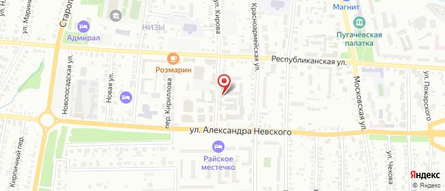 Карта расположения пункта доставки Саранск Кирова в городе Саранск