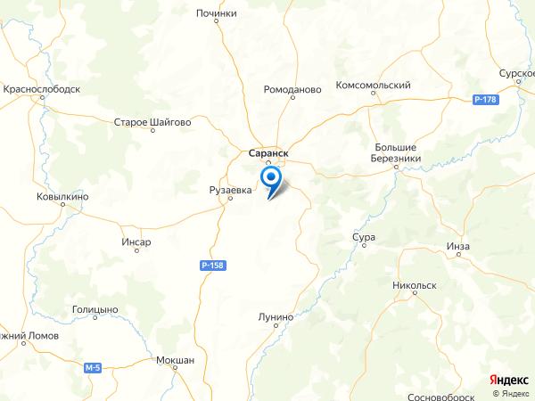 посёлок Новая Нечаевка на карте