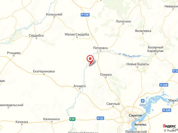село Новая Усть-Уза на карте