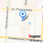 Научная библиотека им. М.М. Бахтина на карте Саранска