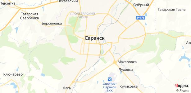 Саранск на карте
