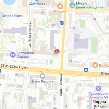 г. Саранск, ул. Коммунистическая,33 на карта