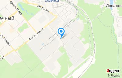 Местоположение на карте пункта техосмотра по адресу Пензенская обл, г Заречный, ул Промышленная, стр 13