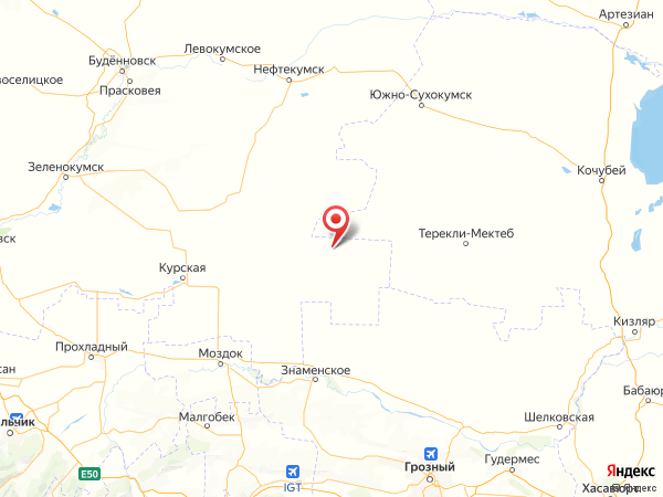 поселок Рощино на карте