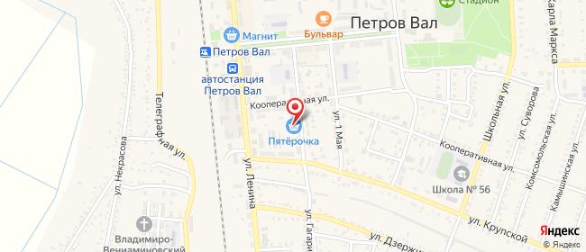 Карта расположения пункта доставки Халва в городе Петров Вал
