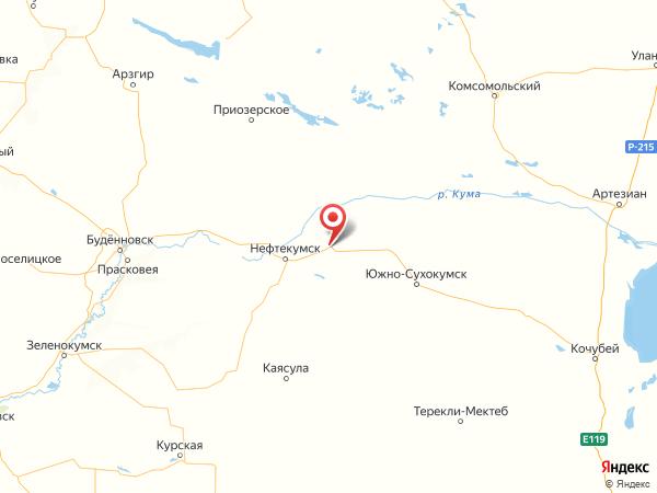 посёлок городского типа Затеречный на карте