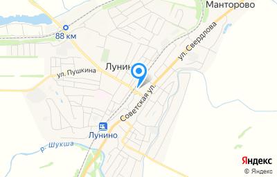 Местоположение на карте пункта техосмотра по адресу Пензенская обл, рп Лунино, ул Советская, д 136