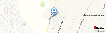 Продуктовый магазин на Комсомольской на карте Чемодановки