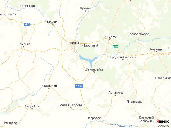 село Безводное на карте