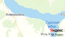 Отели города Ленинка на карте