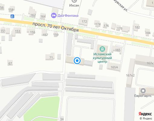 Управляющая компания «ГУК Октябрьского района» на карте Саранска