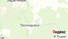Отели города Леонидовка на карте