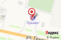 Схема проезда до компании АЗС Лукойл в Чемодановке