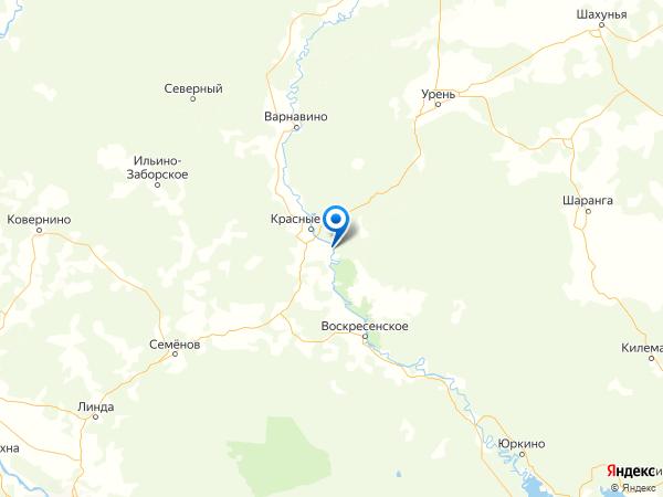 село Ильинское на карте