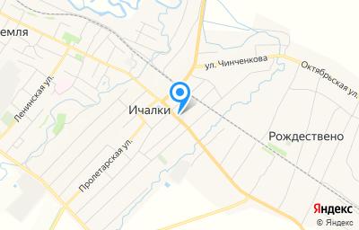Местоположение на карте пункта техосмотра по адресу Респ Мордовия, Ичалковский р-н, с Ичалки, ул Махова, д 16Д