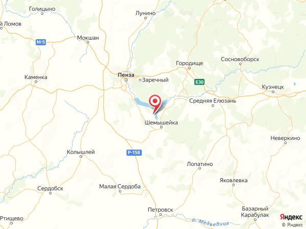 село Усть-Уза на карте