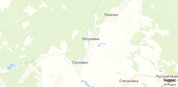 Лопуховка на карте